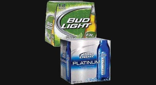Bud Lite Lime and Platinum